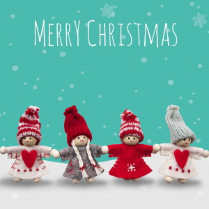 Christmas Card - Christmas Dolls